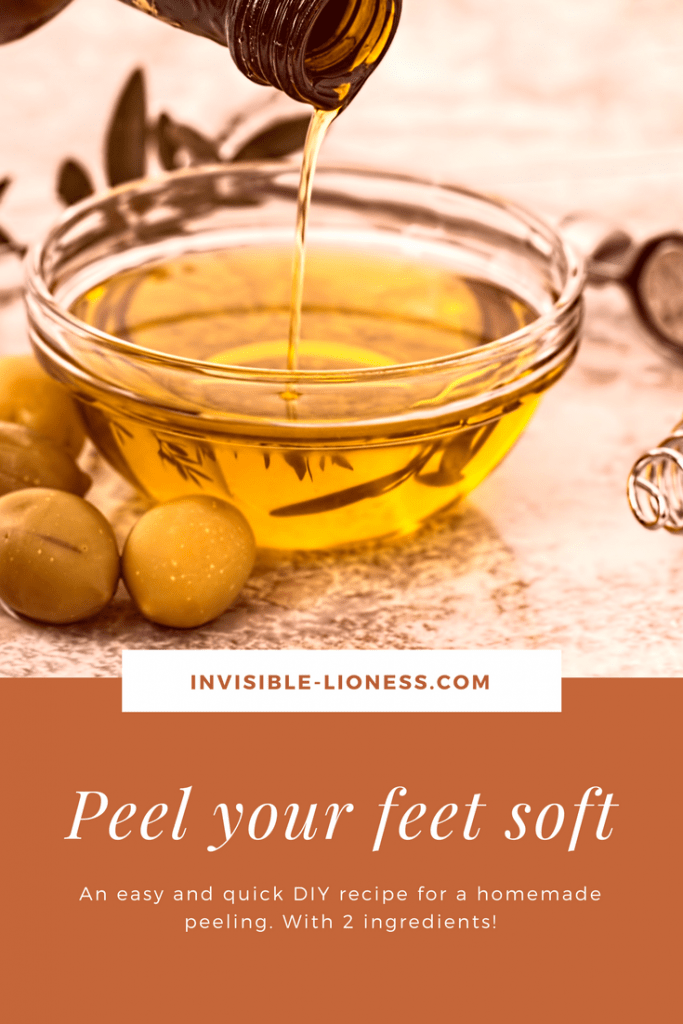 Are you looking for homemade dry feet remedies? This foot scrub DIY helps with really dry feet and only needs 2 ingredients you surely have in your kitchen. Try this DIY exfoliating body scrub now and get your soft skin back!