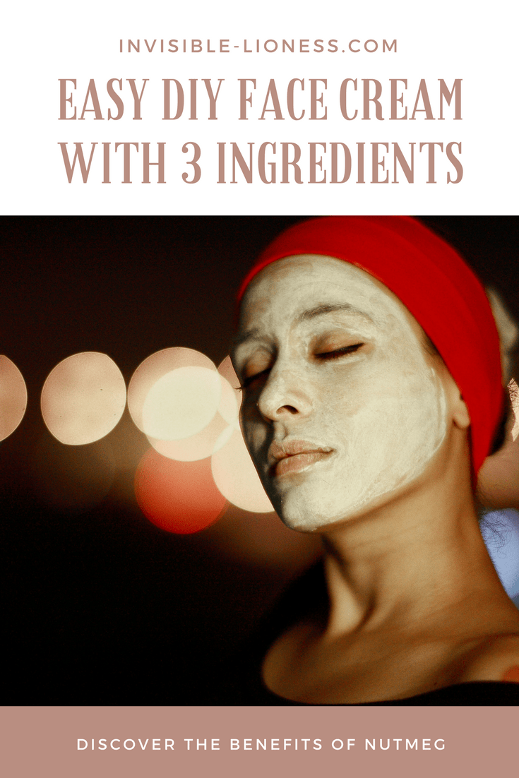 Super easy DIY face cream with 3 ingredients, homemade face cream with nutmeg