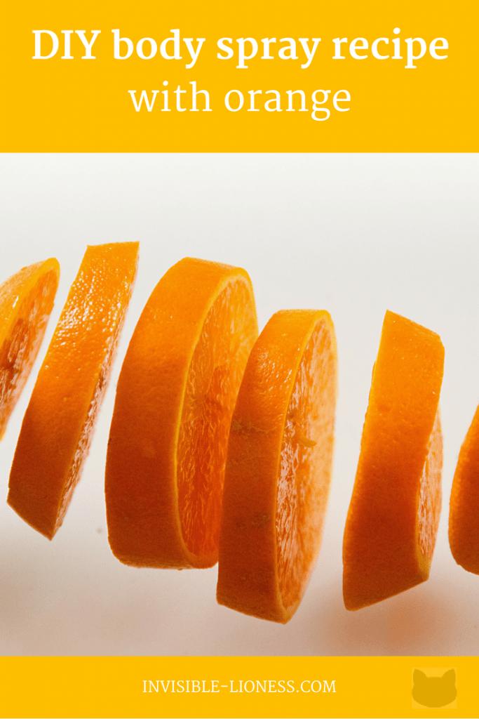 DIY body spray recipe with orange
