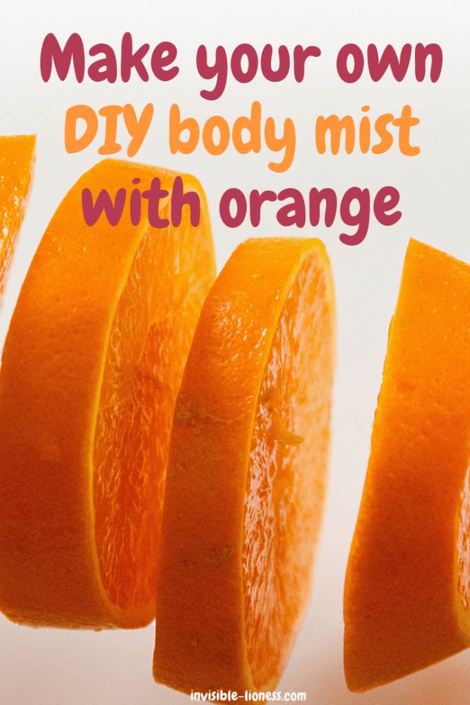Looking for a body mist DIY? This homemade body spray with orange is super easy and quick to make. Perfect as a frugal homemade scent!
