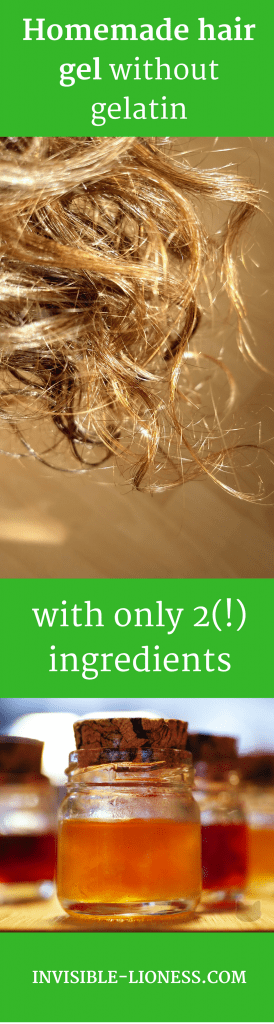Homemade hair gel recipe without gelatin