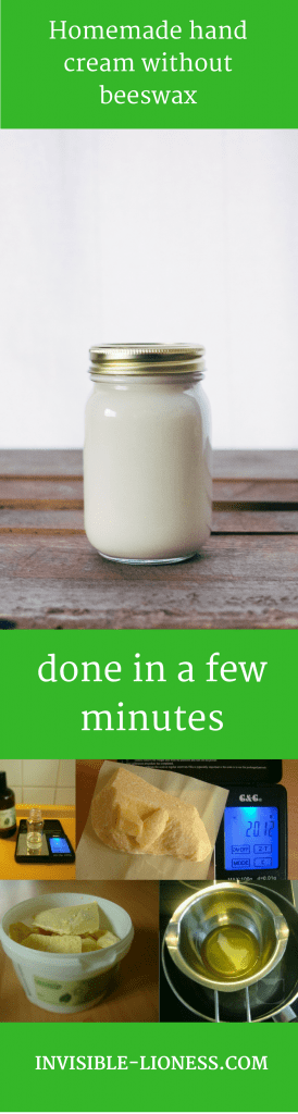 Homemade hand cream without beeswax done in a few minutes