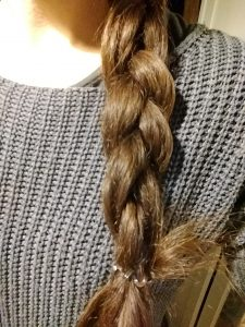 My winter braid after homemade hair mask for dry hair