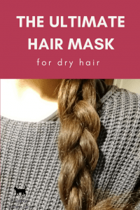 "Image of a shiny braid, words written across read:""The ultimate hair mask for dry hair"""