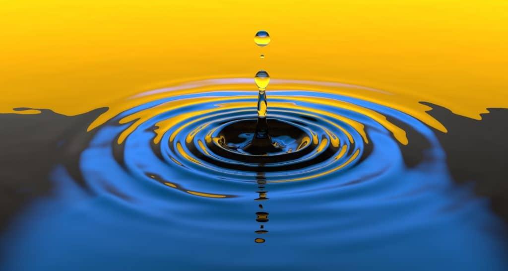 Liquid step of the LOC method: water
