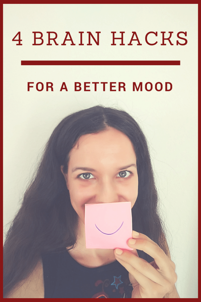 Do you wonder how to be in a better mood? These 4 brain hacks will help you feel better instantly. Try them!