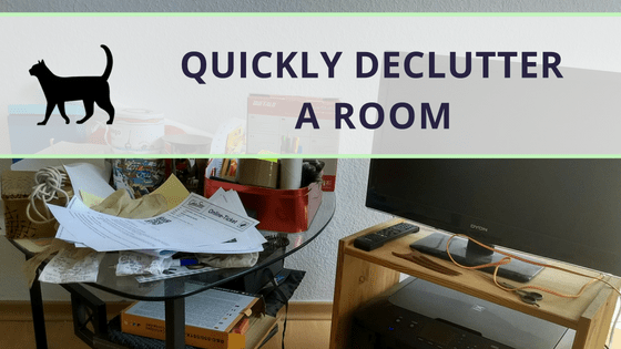 How to quickly declutter a room: My favorite way