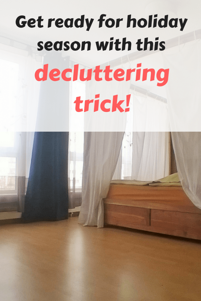 Preparing your house for the holidays? If you want to to seriously speed up the big holiday cleaning, use this decluttering trick! #decluttering #holidays #preparation #cleaning #trick #tip