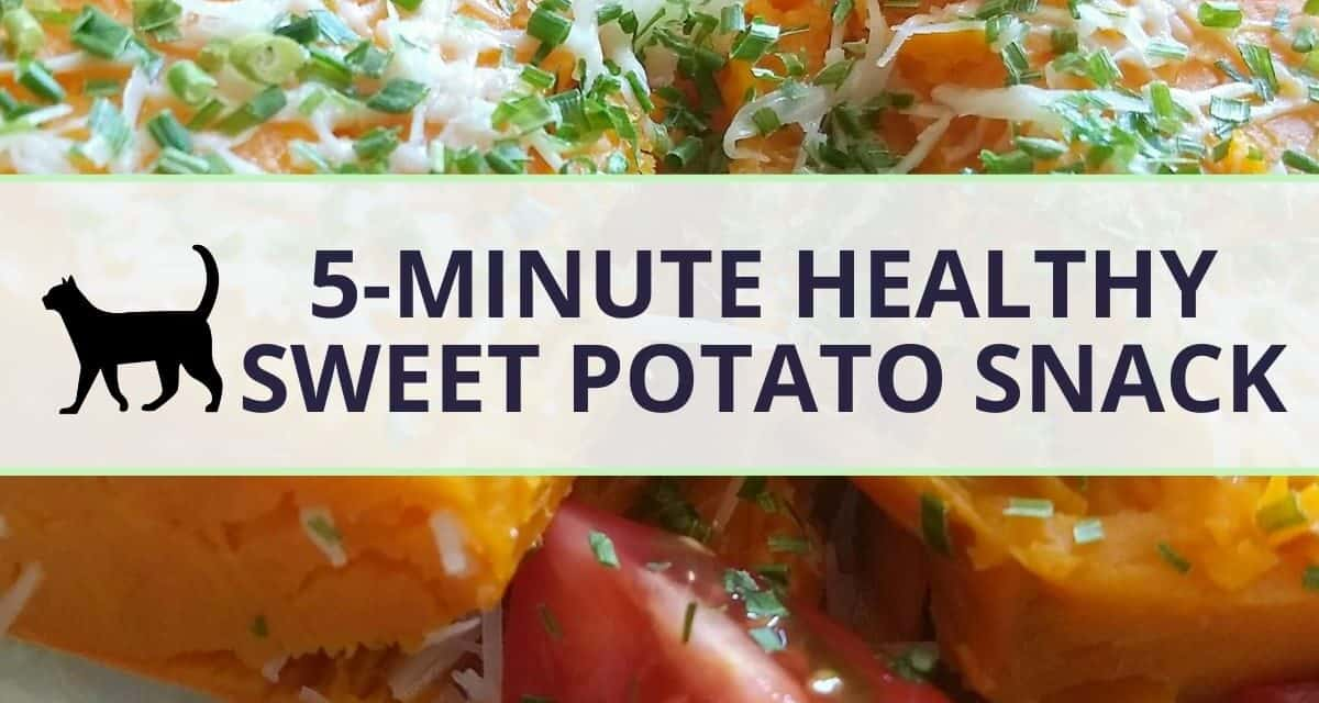 My 5-minute sweet potato lunch Snack: quick, healthy, vegetarian
