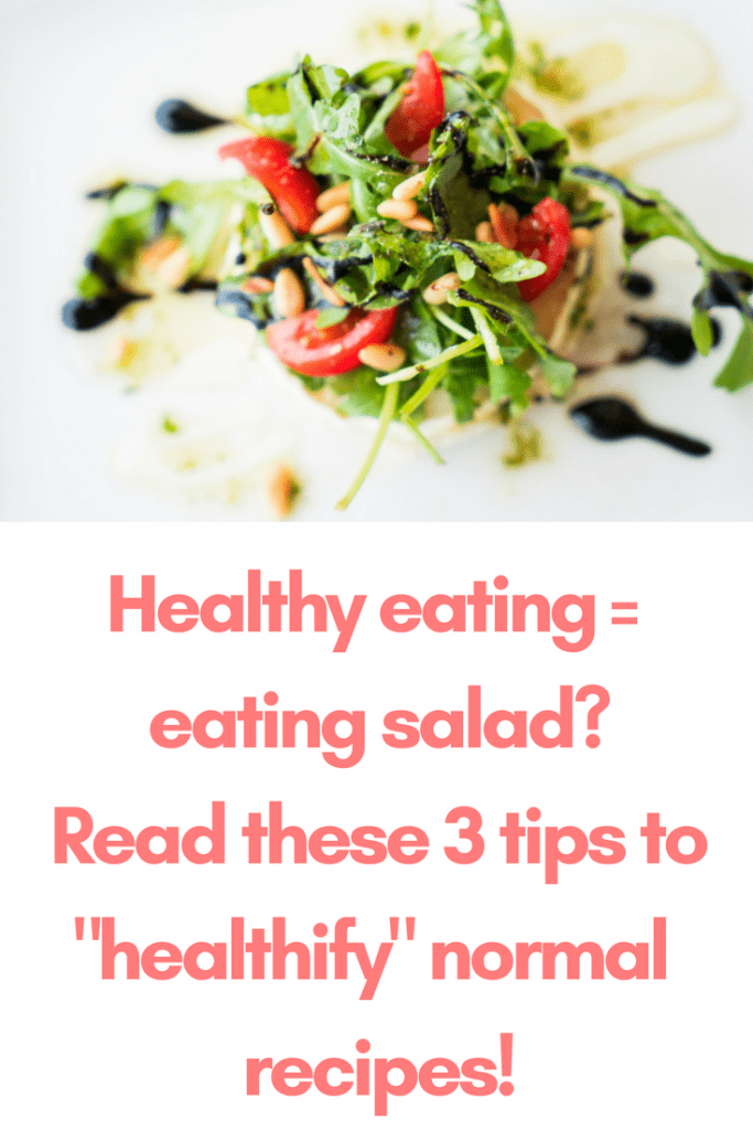You want to live healthy, but you worry about having to eat salad all day long? You can relax! These 3 steps will improve the health factor of your recipes a lot - and none of them is about salad!