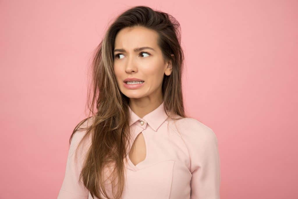 Image of a woman making a very sceptical face