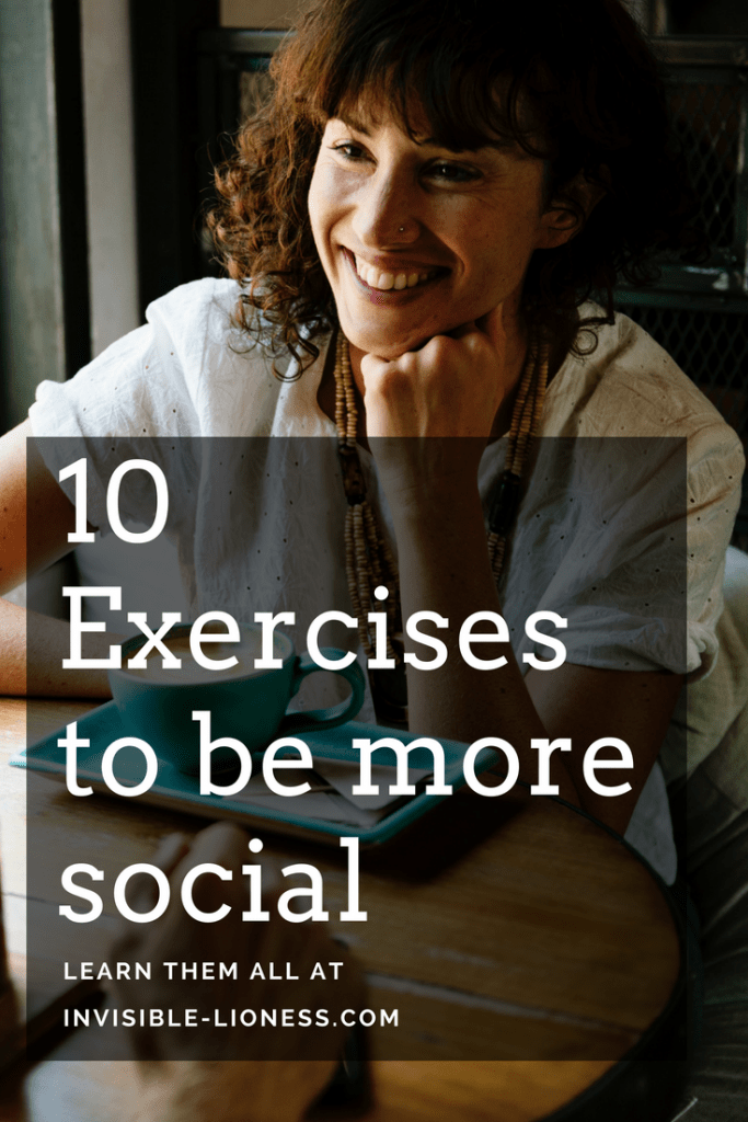 Looking for tips to be more social? These exercises might help!
