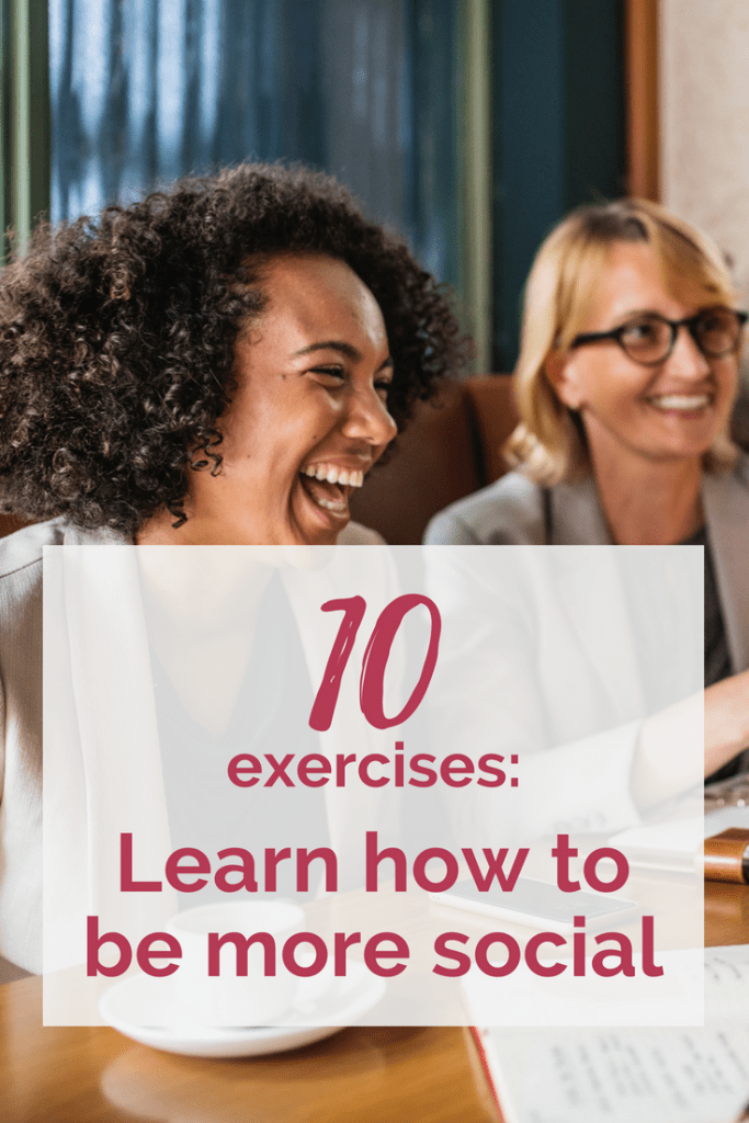 Are you looking for help in overcoming social anxiety? These exercises to be more social might help! #mentalhealth #socialanxiety #tips #list #tricks #exercises #therapy