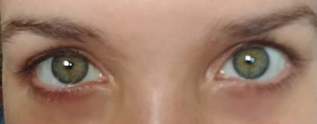 A pair of eyes staring at the observer