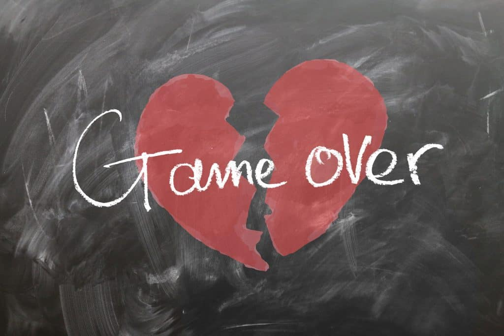 """A broken heart with the writing """"game over"""" - this is how I would feel in the case of benzoyl peroxide not working anymore"""