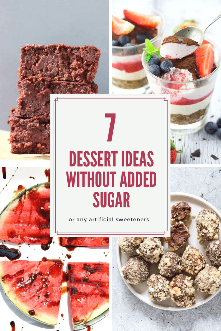 Looking for sugar-free dessert ideas? These 7 healthy and sugar-free recipes will make you enjoy dessert again! They are super tasty and easy to make.
