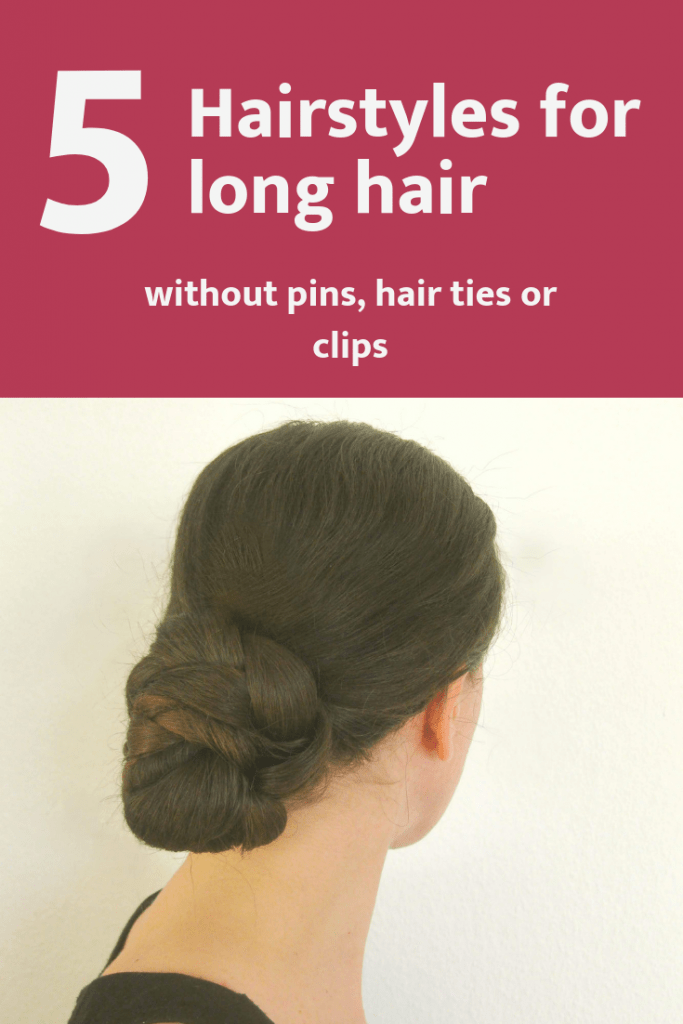 Looking for quick hairstyles for long hair? These 5 hairdos are super easy to make. All you need to learn is one simple bun, which is the basis for all the other updos. But you need to have really long hair for this!