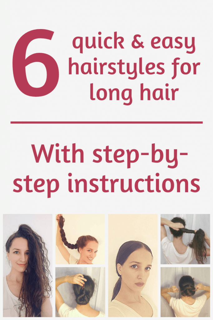 Need some hairstyle inspiration? Check out these 6 hairstyles for long hair with step by step instructions!