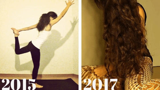 Hair growth difference between 2015 and 2017