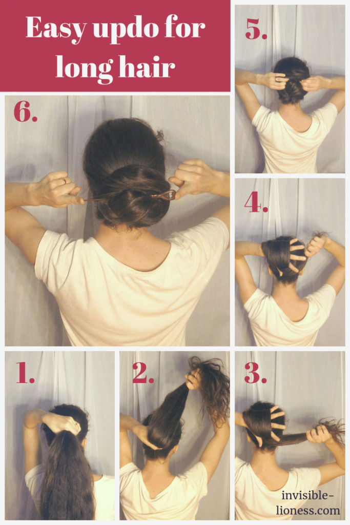 Looking for an easy undo for long hair? This step by step tutorial shows you how to make a very easy updo for long hair with only a pencil or a hair stick.