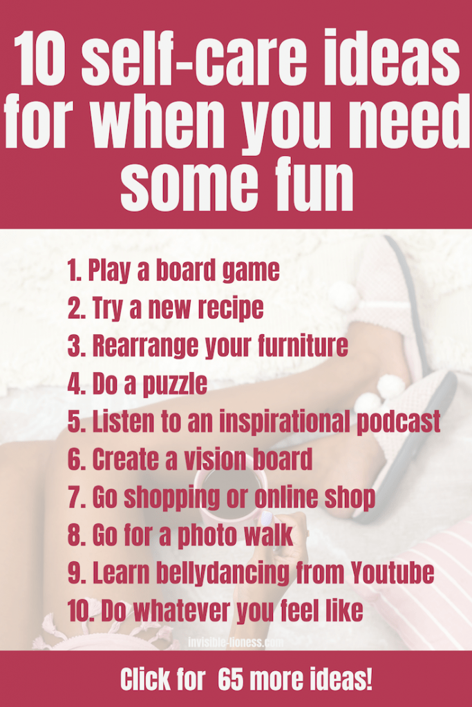 Want to spice up your self-care routine? Try out these self-care ideas for when you just need to have some fun!