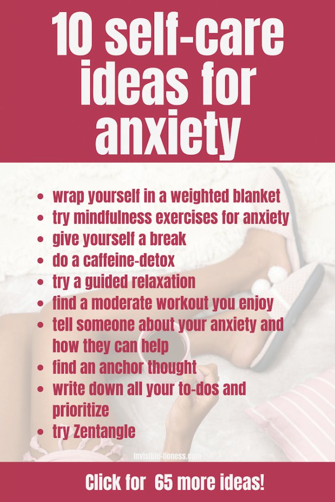 Looking for anxiety relief? Why not try these 10 self-care ideas for anxiety!