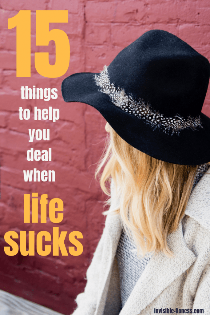 Your life is awful right now and stress and anxiety are taking over? Check out these 15 tips to help you deal with those situations when life sucks!