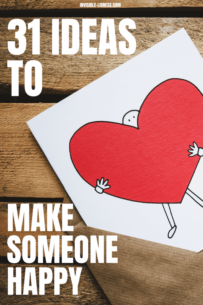 Need some ideas on how you can make someone else's life better? Look no further! This list of 31 tips tells you exactly how you can make someone else smile today!
