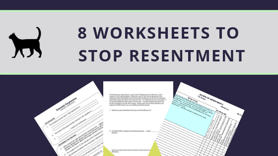 "8 helpful ""Letting go of resentment worksheets"""