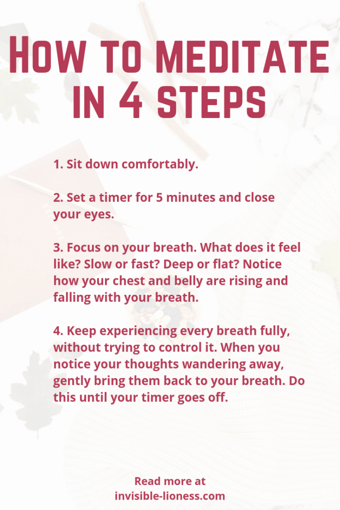 Do you want to learn how to meditate? These 4 steps will have you meditating like a pro in no time!