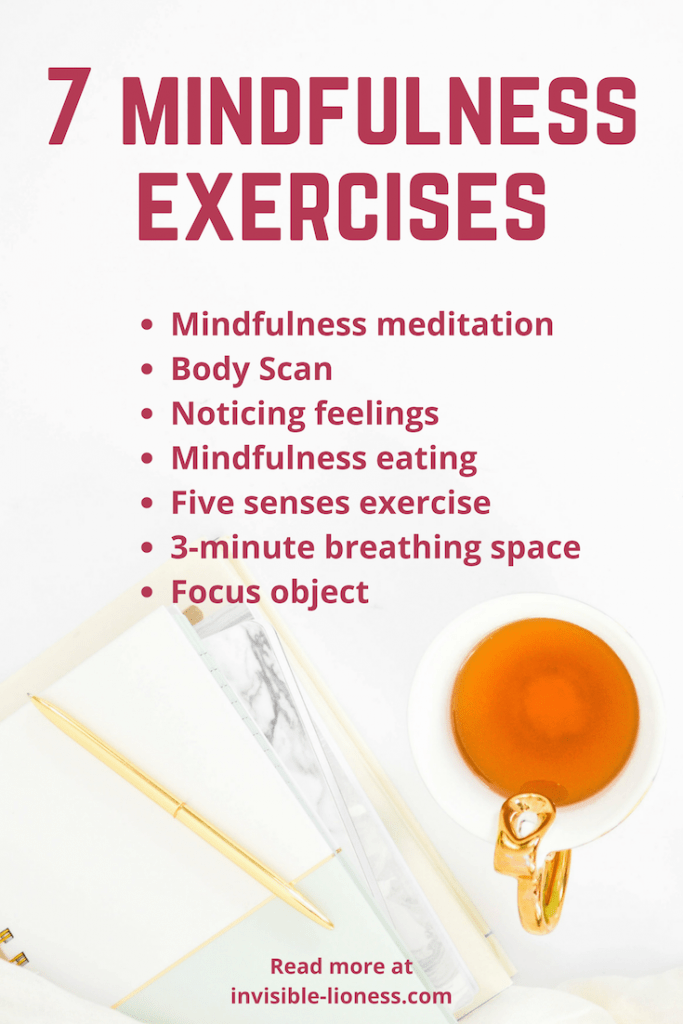Do you wonder how to practice mindfulness? Check out this list of 7 mindfulness exercises!