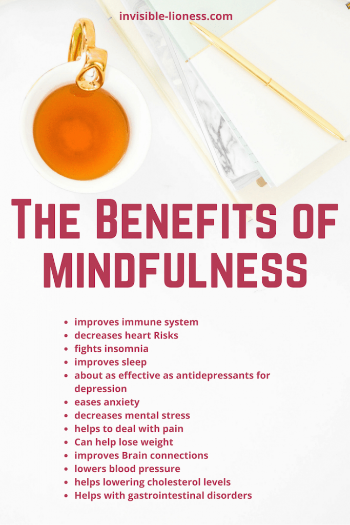 These are some of the benefits of mindfulness