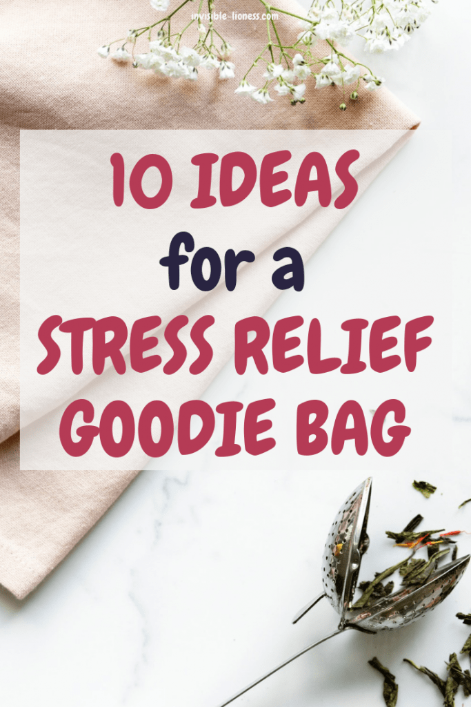 Need some ideas for stress relief goodie bags? Then this list is for you! 10 practical ideas to help with stress relief and relaxation. Check it out!