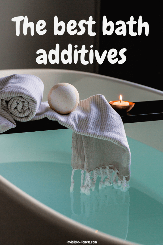 Looking for inspiration for your next relaxing bubble bath? Here you'll find all kinds of bath additives. Ideas for relaxing bath salts for sore muscles, bath additives without Epsom salts and more!