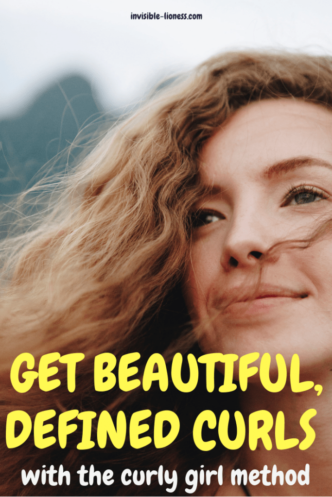 A pinnable image with the title of the article and a smiling woman with curly hair