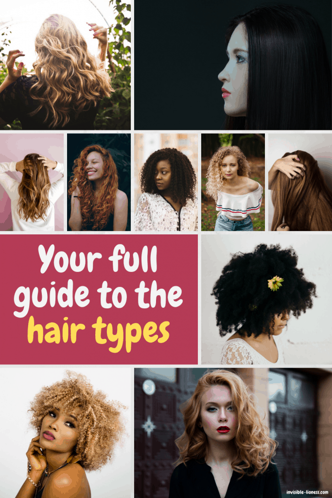 Have you been wondering: What's my hair type? This guide to the 4 big hair types will teach you everything you need to know!