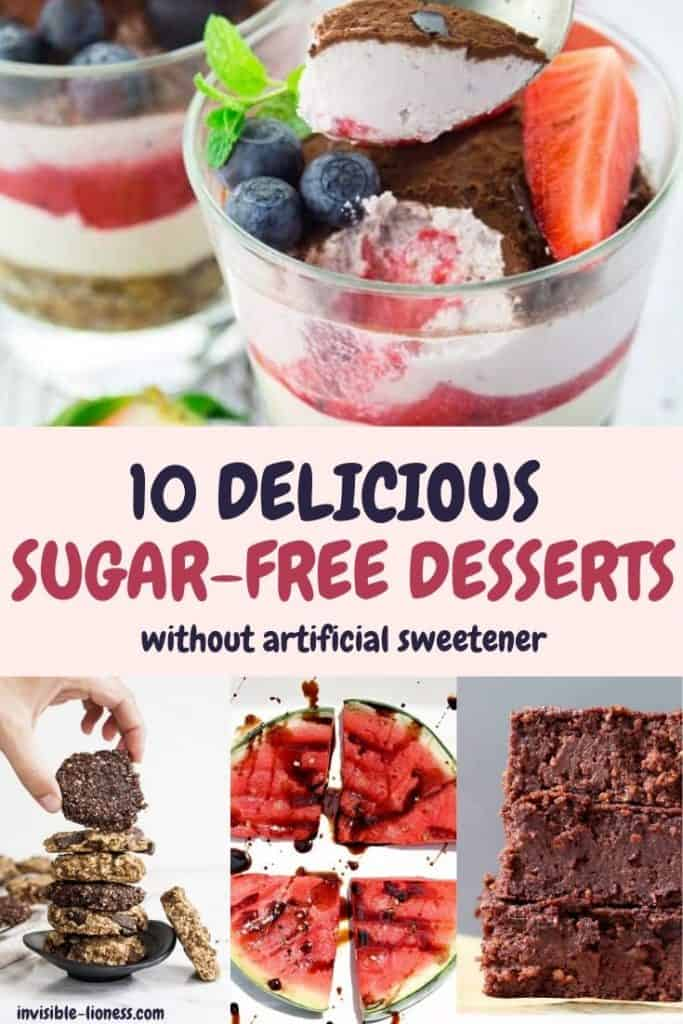 Example images of the 10 delicious sugar-free desserts without artificial sweetener from the list above