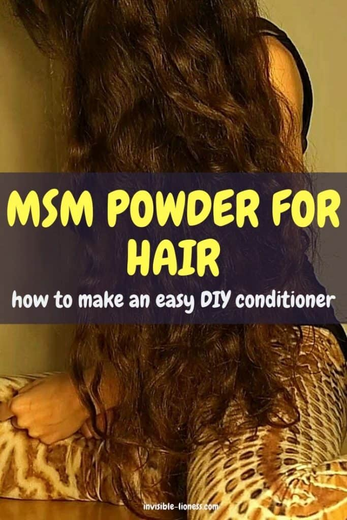 Easy DIY MSM Conditioner with two ingredients