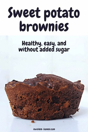 Looking for a flourless brownies recipe? These easy sweet potato brownies need no sugar. Instead, you can sweeten them with dates or banana. And they also contain peanut butter. Tasty and healthy!