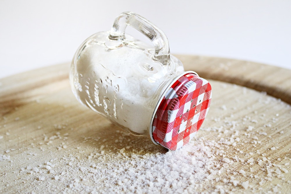 Image of a mason jar filled with salt