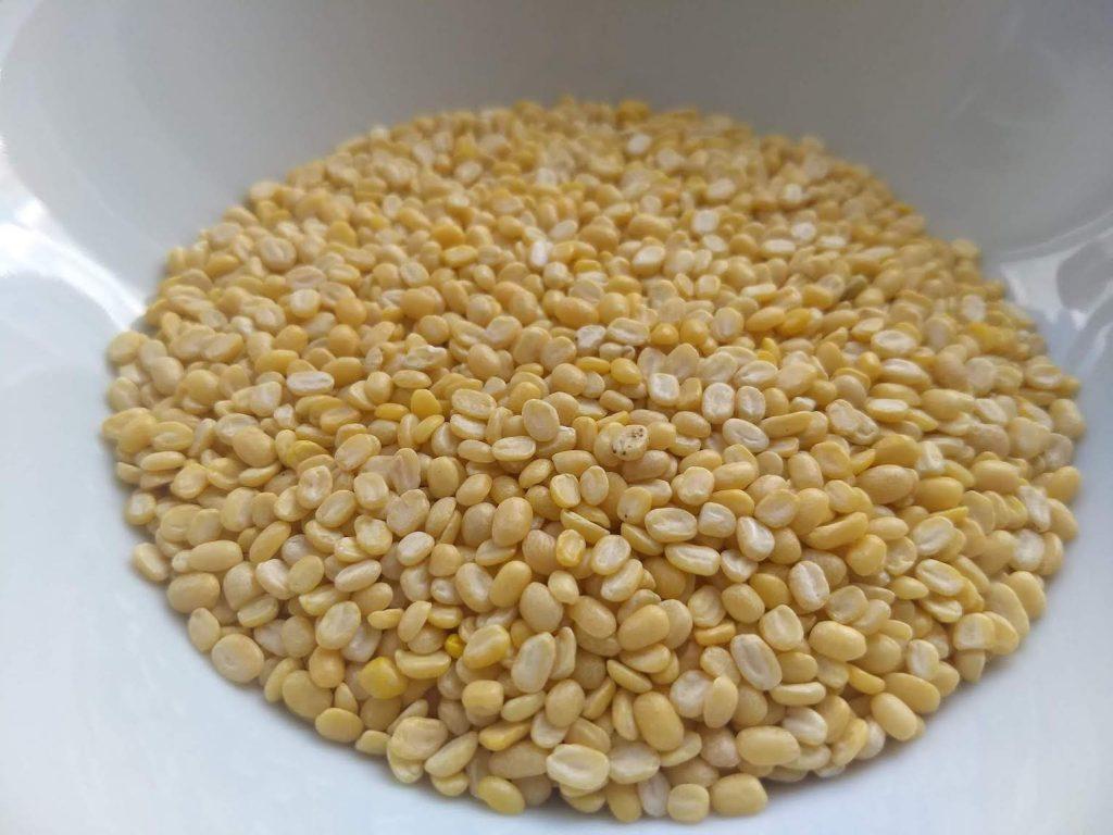 Image of raw, split und beans