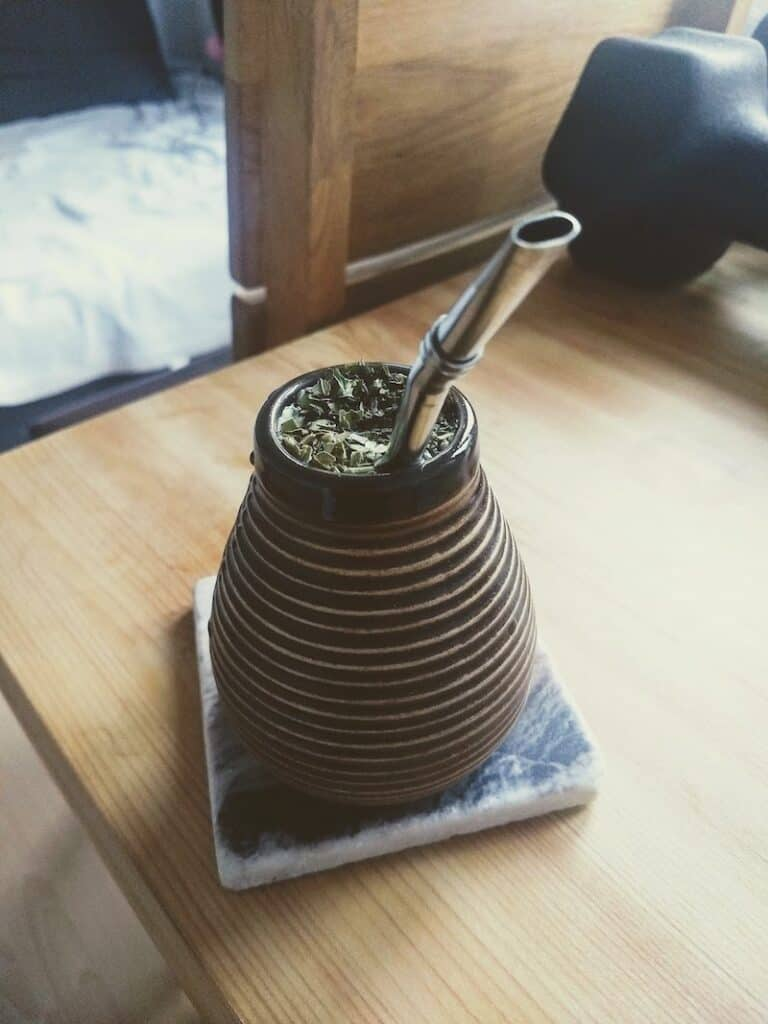 Image of a cup of spearmint tea on my desk